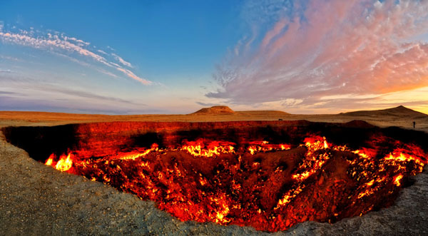 Пылающий кратер Дарваза