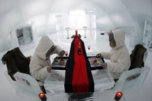 Icehotel breakfast Ледяной отель (Icehotel)