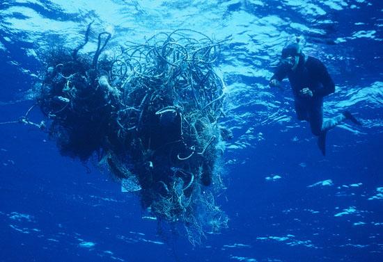Подводные сети Большое тихоокеанское мусорное пятно